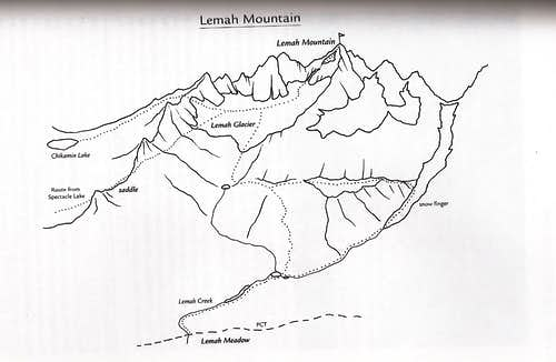 Lemah Mountain Map