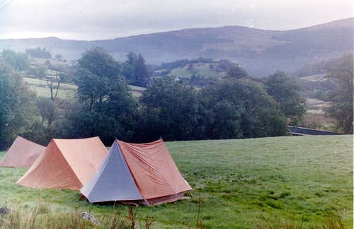 Camping in the Lledr valley