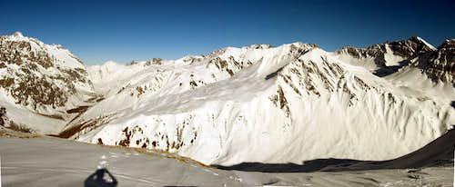 The mountain of Val Ferret.Photo taken from the summit of Testa Bernarda.