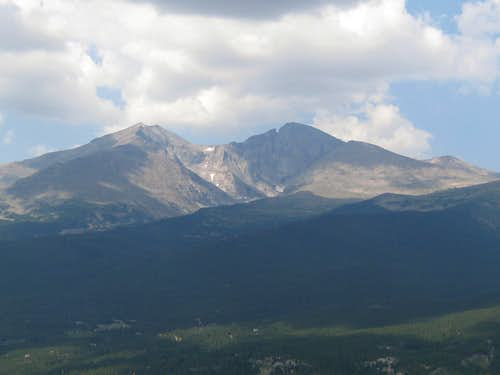 Mount Meeker-Longs Peak-Mount Lady Washington-From the Twin Sisters
