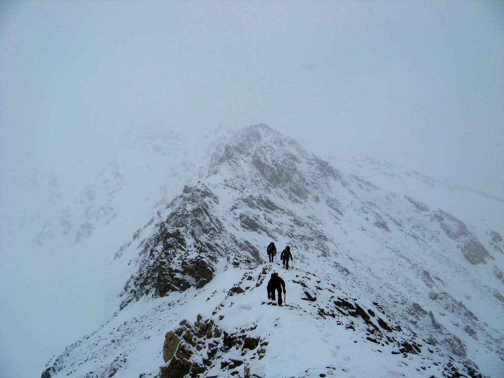 Climbing Kelso Ridge in February