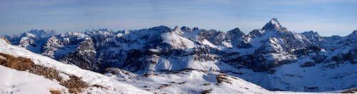 Allgau Alps - Hochvogel Panorama