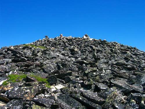 Talus summit