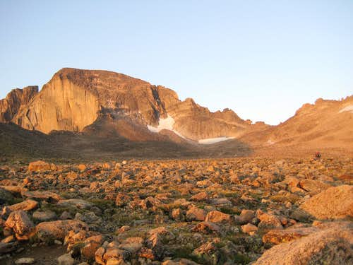 Longs Peak-Sunrise-Early Boulderfield
