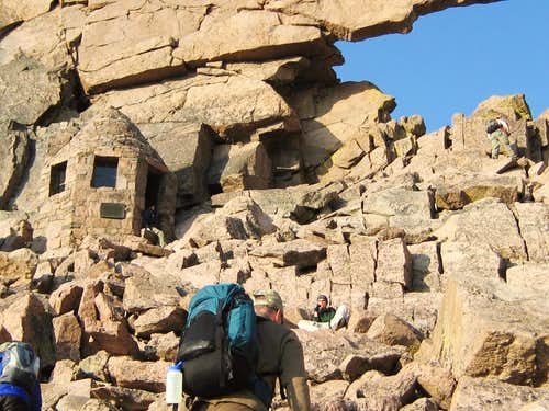 Longs Peak-Dan approaching the Keyhole