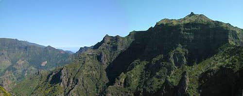 Pico Grande (1654m) in front...