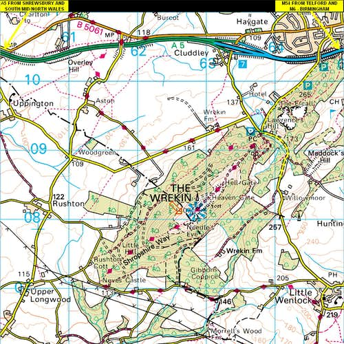 The Wrekin Map