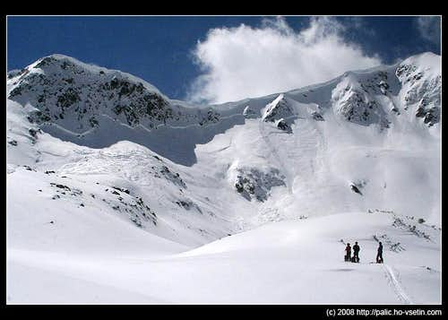 Avalanche in Pirin mountains