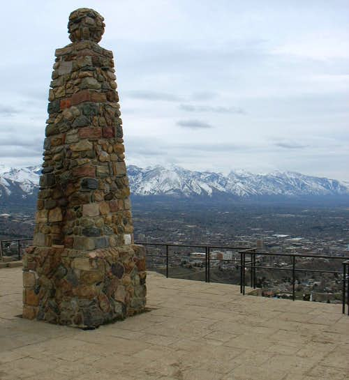 Ensign Peak Monument in Spring