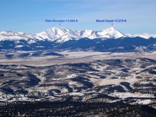 Bald Mountain and Mount Guyot...