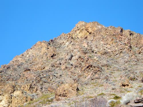 Straight view of the rock face