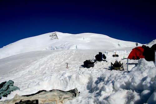 Camp near by Aiguille du Goûter(3817m)