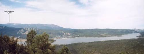 Panorama of Big Bear Lake and...