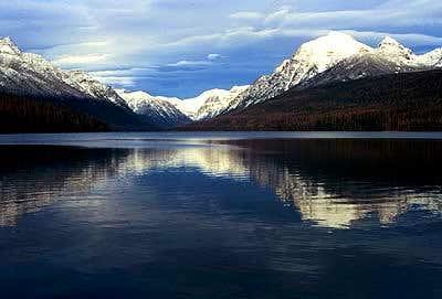 Numa Ridge, Bowman Lake and Rainbow Peak