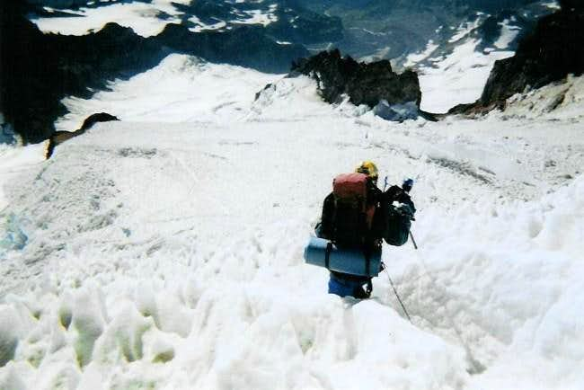 Descending Mt. Rainier,...
