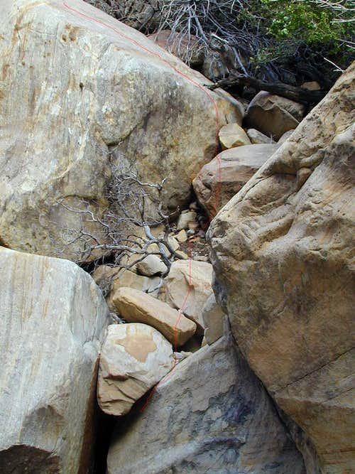Boulder obstacle