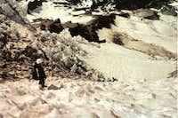 decending the Kautz Glacier