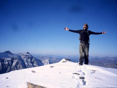 Rainbow Peak - L.P. on the summit