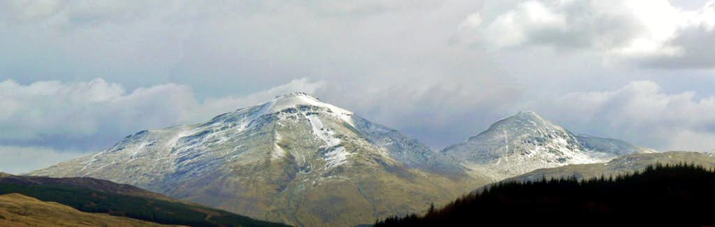 Ben More and Stob Binnien Panorama