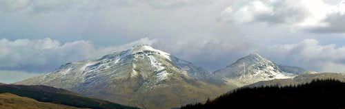 Ben More and Stob Binnien Panorama