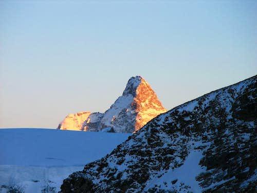 Matterhorn as seen from the Castor glacier