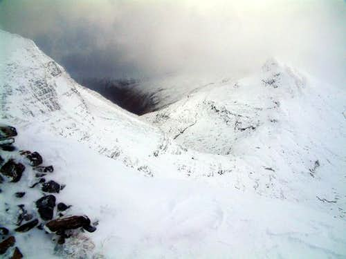 Looking towards the Sgurr...