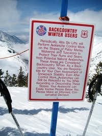 Sign Near Patsy Marley Peak