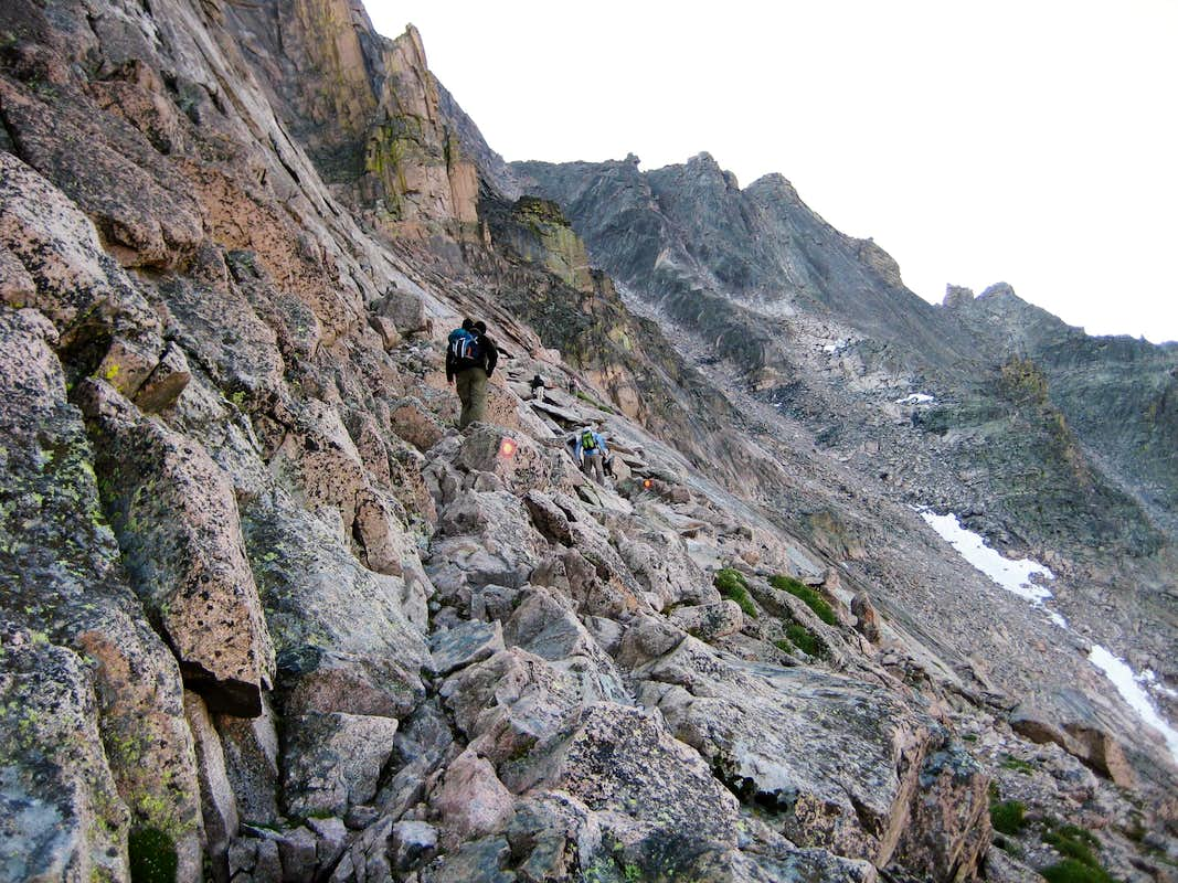 Longs Peak-The Ledges-Dan and K-Climbers and Trough in the ...