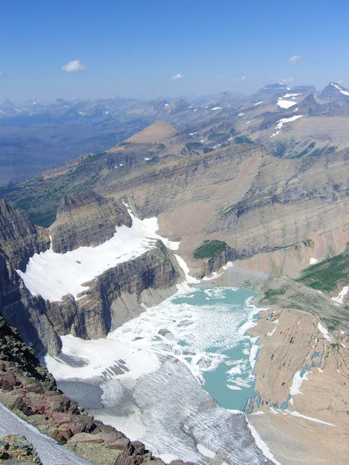 Grinnell Glacier & Upper Grinnel Lake from Mount Gould
