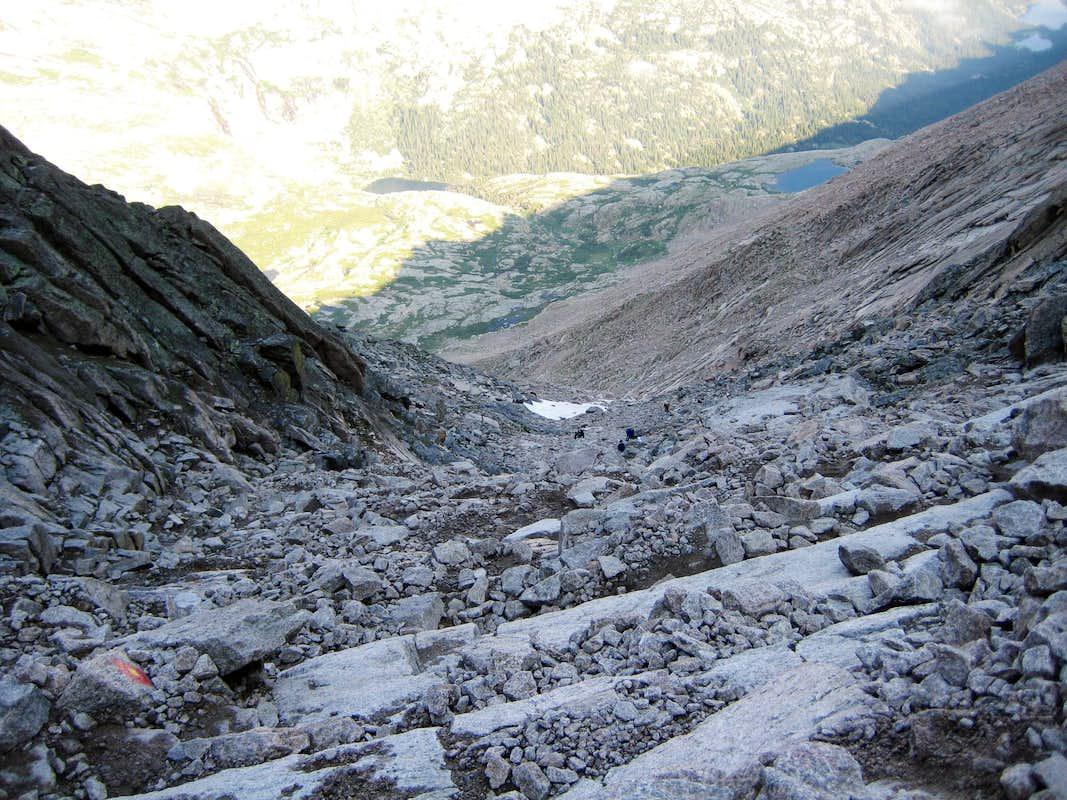 Longs Peak-The Trough-Looking down : Photos, Diagrams ...