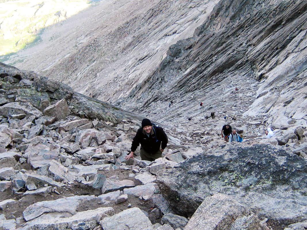 Longs Peak-The Trough-K nears the top : Photos, Diagrams ...