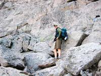 Longs Peak-The Trough-Dan tryng to get O's
