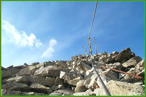 The ridge leading to the...