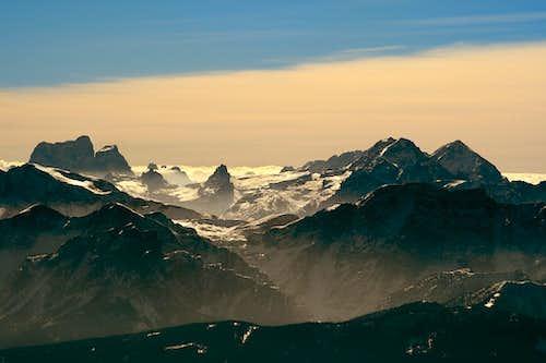 Monte Pelmo and Le Tofane