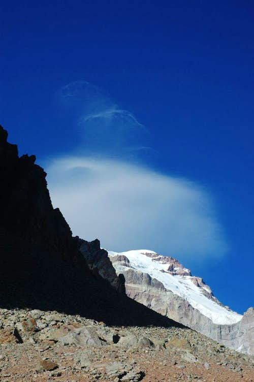 Lenticular cloud above Aconcagua