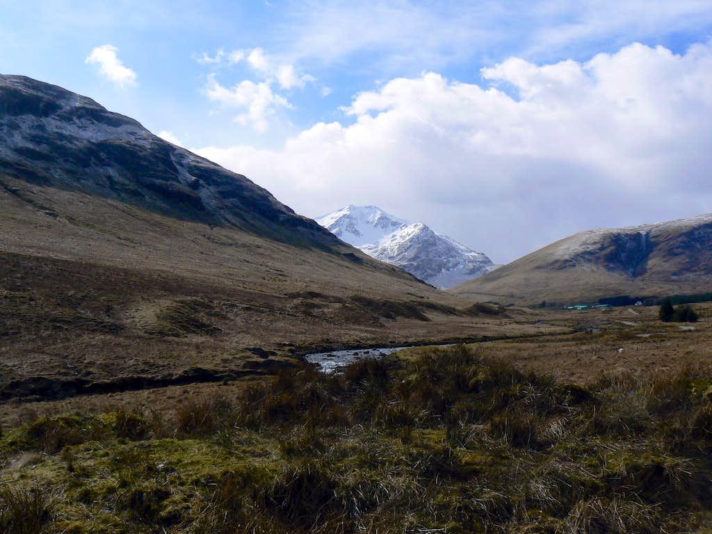 First Glimpse of Beinn Laoigh