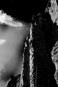 Climbing at vantage