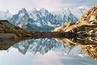Mont Blanc (4810) et Aiguilles de Chamonix