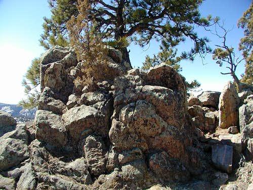 Mount Galbraith summit rock