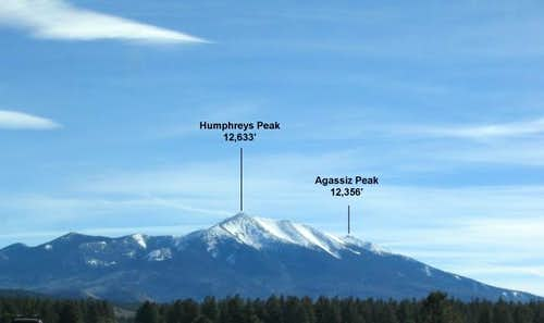Humphreys and Agassiz Peaks...