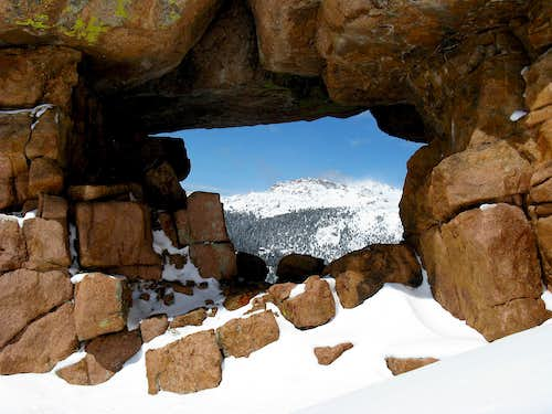 Bison Peak Framed by an Arch