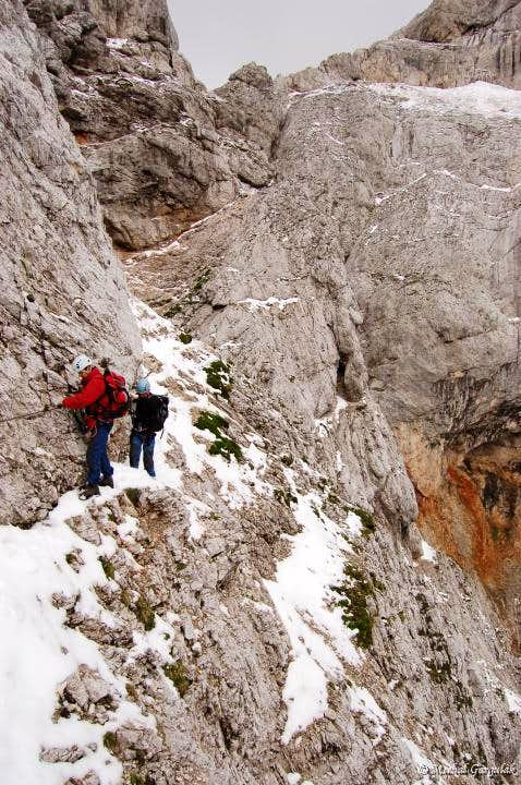 Descent from Prisojnik