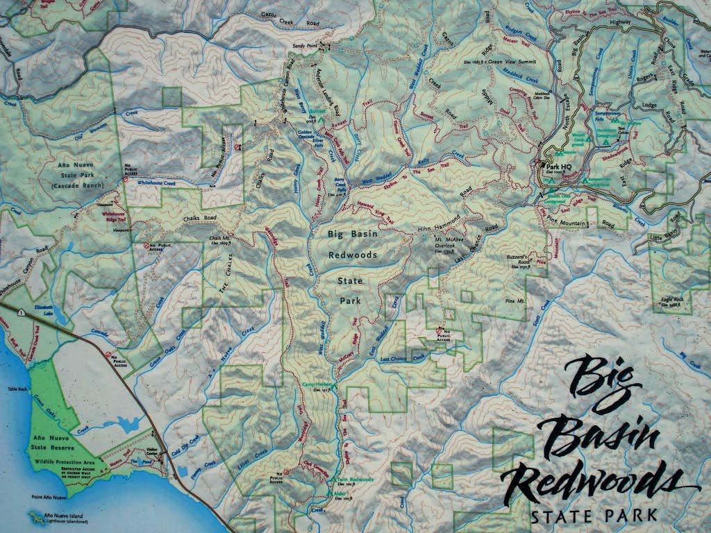 Big Basin SP map
