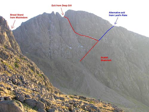 Scafell Crags Topo