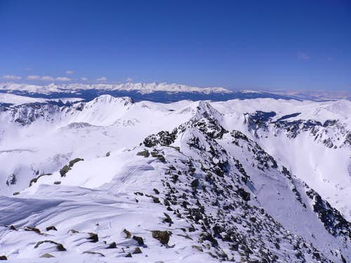 Quandary Peak summit - West view.  14,265\'