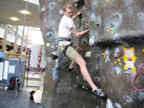 Bouldering at UI Climbing Facility