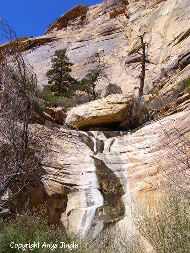 Second waterfall in the North fork of Oak Creek
