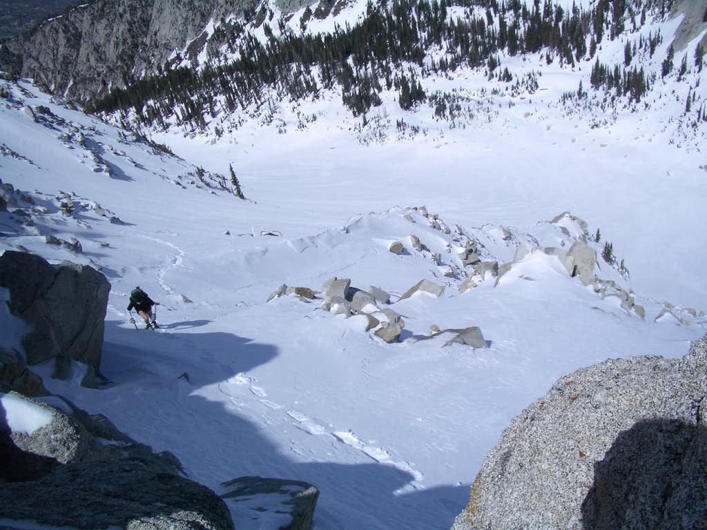 Climbing out of Big Willow Cirque