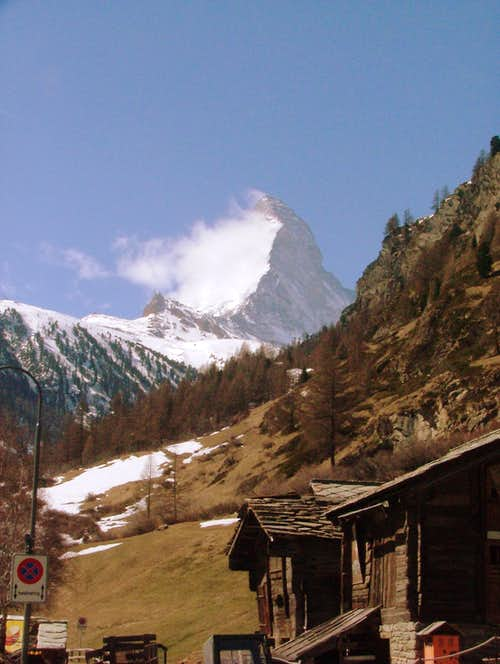 Matterhorn as seen from Zermatt.