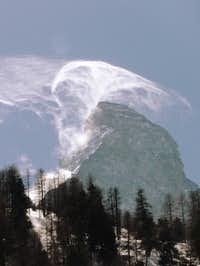 Cloud around Matterhorn.